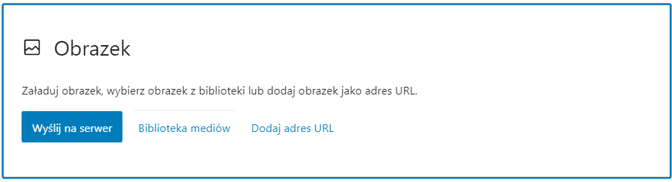 Opcje dodania obrazka w treści WordPress