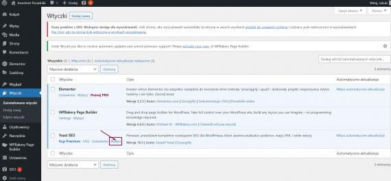 Wyłączanie wtyczki w WordPressie