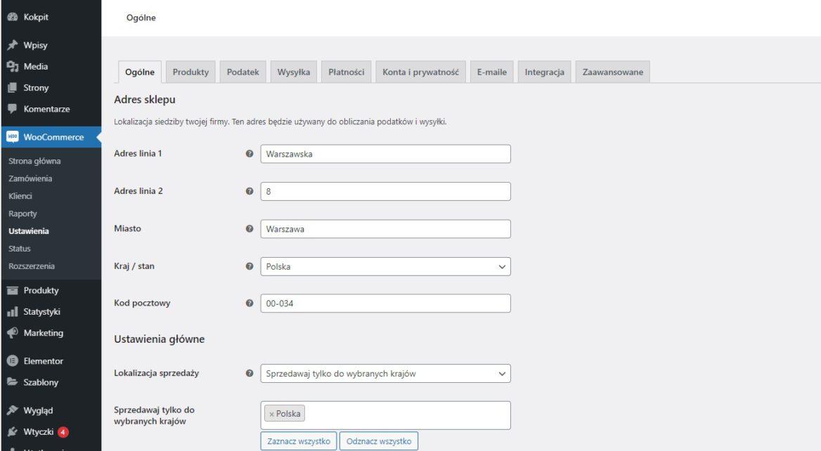 Marketplace w oparciu o WordPress - WooCommerce
